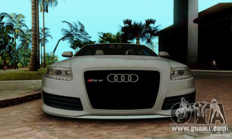 Audi RS6 2009 for GTA San Andreas upper view