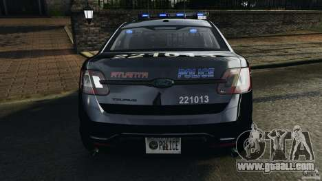 Ford Taurus 2010 Atlanta Police [ELS] for GTA 4 interior