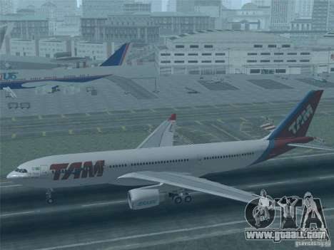 Airbus A330-223 TAM Airlines for GTA San Andreas interior