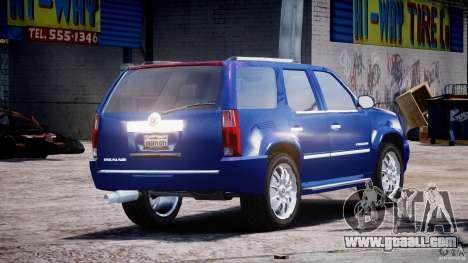 Cadillac Escalade [Beta] for GTA 4 upper view