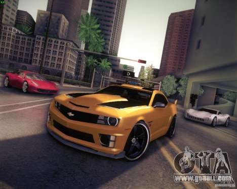 Chevrolet Camaro 2SS 2012 Bumblebee for GTA San Andreas left view