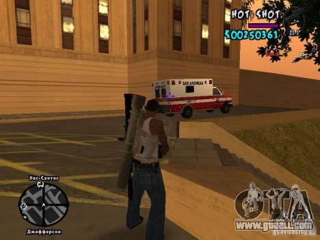 HUD by Hot Shot for GTA San Andreas forth screenshot