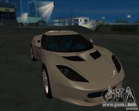 Lotus Evora for GTA San Andreas