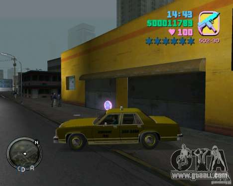 Ford Crown Victoria LTD 1985 Taxi for GTA Vice City back left view