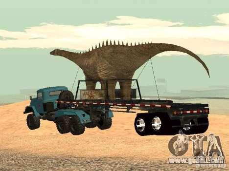 Dinosaur Trailer for GTA San Andreas
