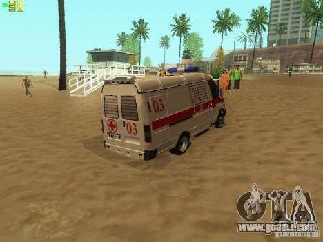 Gazelle 32214 Ambulance for GTA San Andreas back left view