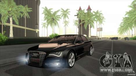 Audi S8 2012 for GTA San Andreas right view