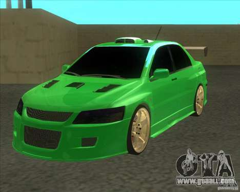 Mitsubishi Lancer Evo 9 Drift style for GTA San Andreas