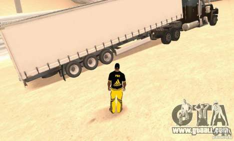 Krone Trailer for GTA San Andreas back left view