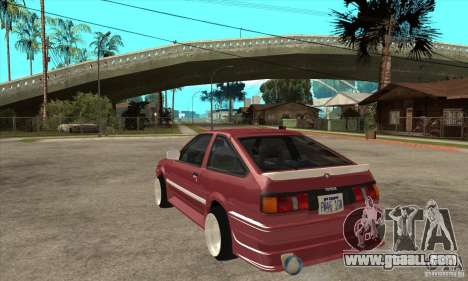 Toyota Corolla AE86 tuned for GTA San Andreas back left view