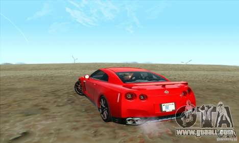 Nissan GT-R R-35 2012 for GTA San Andreas left view