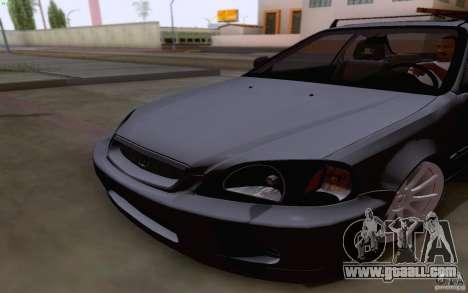 Honda Civic 1999 for GTA San Andreas inner view