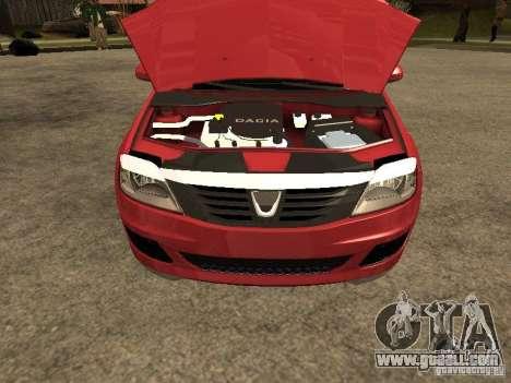Dacia Logan Rally Dirt for GTA San Andreas right view