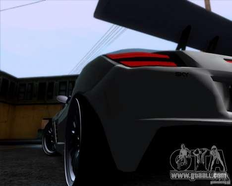 Saturn Sky Roadster for GTA San Andreas back view