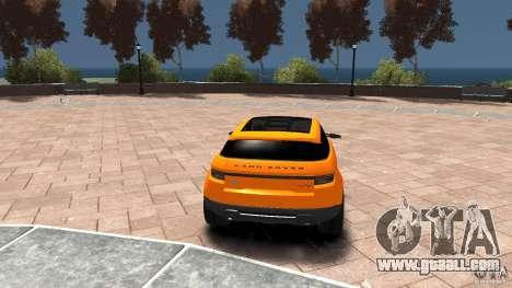 Range Rover LRX 2010 for GTA 4 back left view