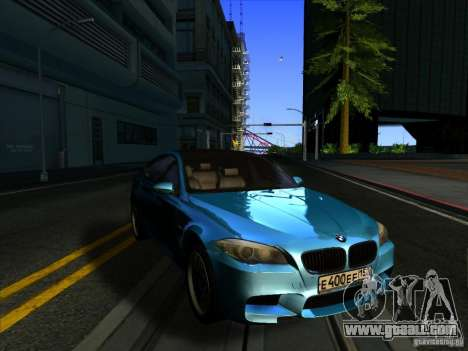 BMW 535i F10 for GTA San Andreas back left view