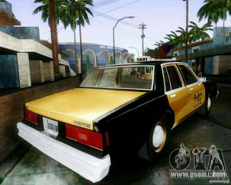 Chevrolet Impala 1986 Taxi Cab for GTA San Andreas left view