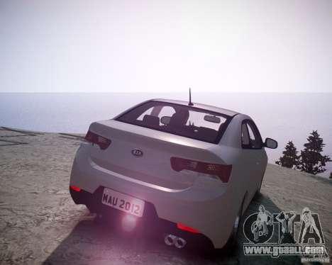 Kia Cerato Koup 2011 for GTA 4 back left view