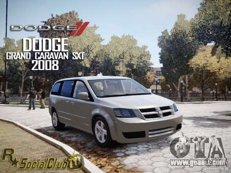Dodge Grand Caravan SXT 2008 for GTA 4