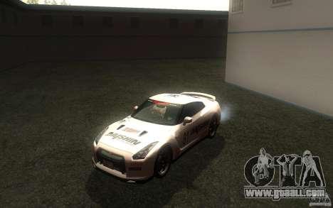 Nissan GTR R35 Spec-V 2010 for GTA San Andreas inner view