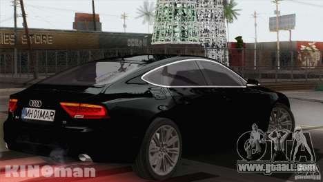 Audi A7 Sportback 2010 for GTA San Andreas left view