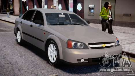 Chevrolet Evanda for GTA 4 upper view
