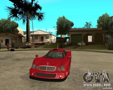 Mercedes-Benz CLK GTR road version for GTA San Andreas back view