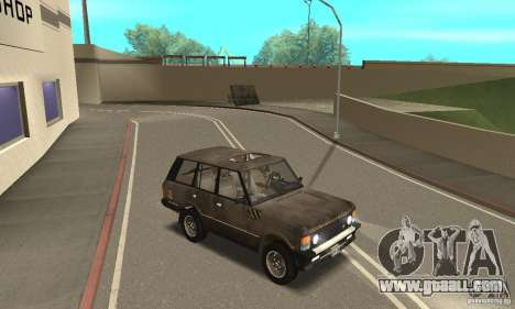 Range Rover County Classic 1990 for GTA San Andreas bottom view
