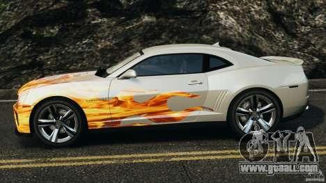 Chevrolet Camaro ZL1 2012 v1.0 Flames for GTA 4 left view