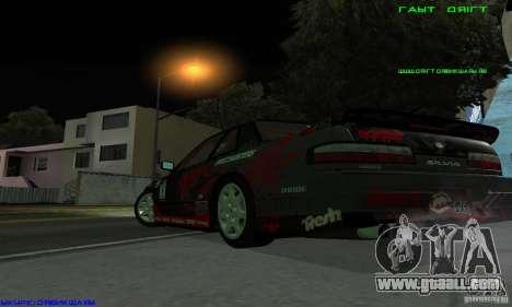 Nissan Silvia S13 Tunable for GTA San Andreas inner view