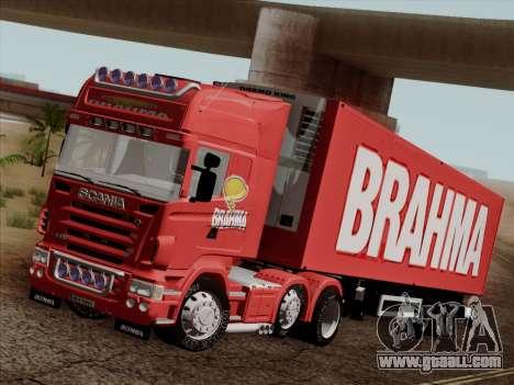 Scania R620 Brahma for GTA San Andreas bottom view