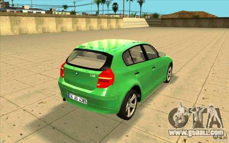 BMW 118i for GTA San Andreas side view
