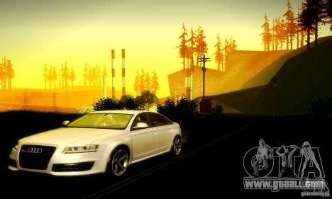 Audi RS6 TT for GTA San Andreas back view