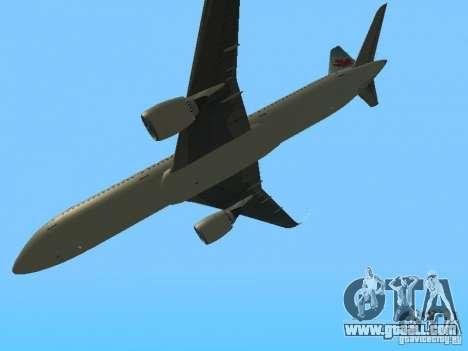Boeing 787 Dreamliner Air Canada for GTA San Andreas inner view