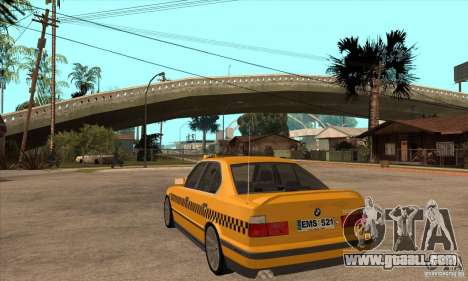 BMW E34 535i Taxi for GTA San Andreas back left view