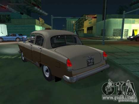 GAS M21T Taxi for GTA San Andreas back left view