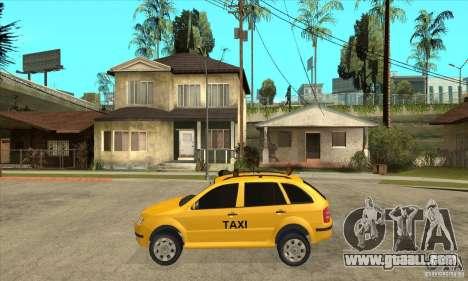Skoda Fabia Combi Taxi for GTA San Andreas left view