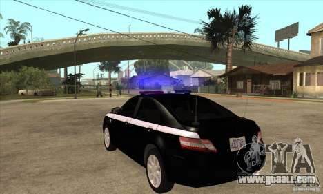 Toyota Camry 2010 SE Police RUS for GTA San Andreas
