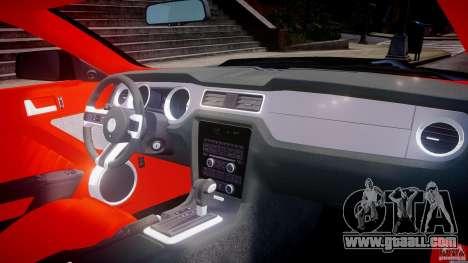 Ford Mustang V6 2010 Police v1.0 for GTA 4 upper view