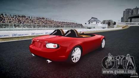Mazda Miata MX5 Superlight 2009 for GTA 4 side view