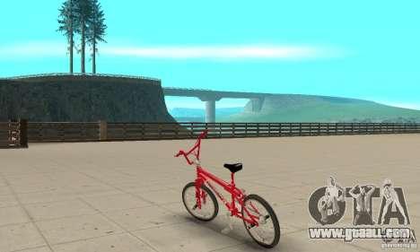 Noxon Jump Bmx for GTA San Andreas back left view