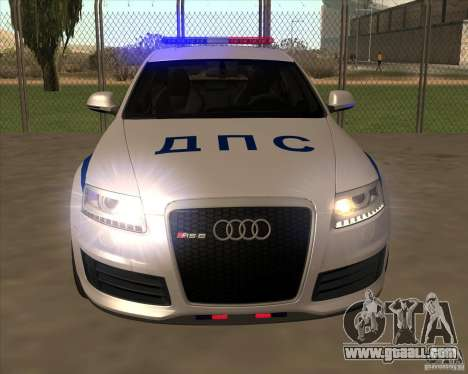 Audi RS6 2010 DPS for GTA San Andreas inner view