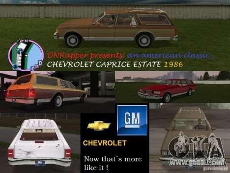 Chevrolet Caprice Estate 1986 for GTA Vice City