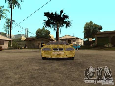 BMW M3 Goldfinger for GTA San Andreas back left view