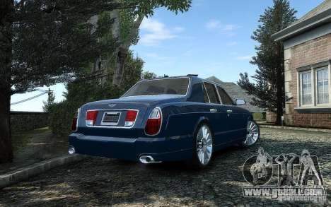 Bentley Arnage T for GTA 4 back view