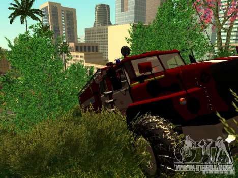 Ural 5557-40 fire for GTA San Andreas side view