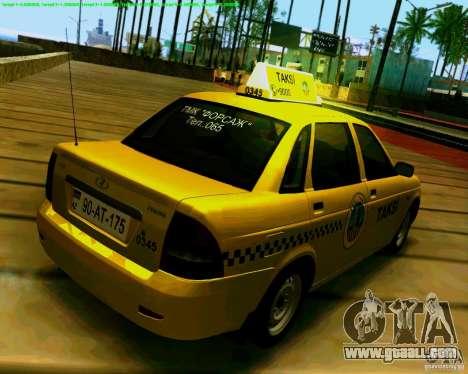 LADA 2170 Priora Baki taksi for GTA San Andreas right view