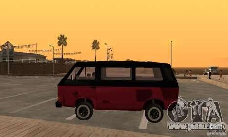 Volkswagen T3 Rusty for GTA San Andreas left view