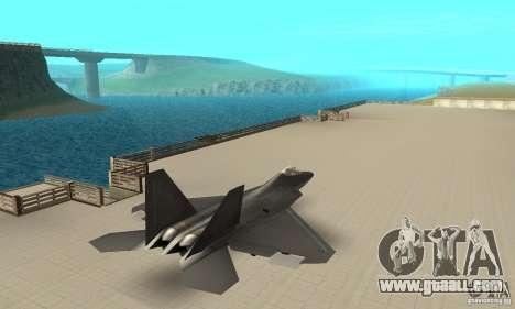 F-22 Black for GTA San Andreas left view