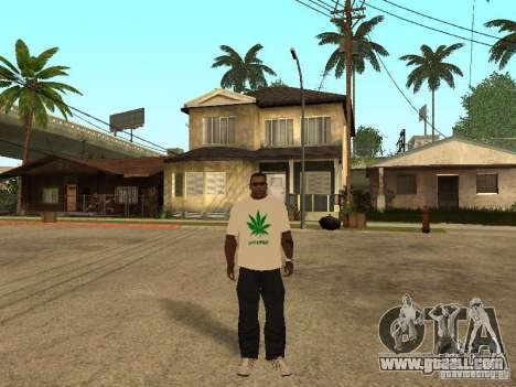 T-shirt with grass for GTA San Andreas